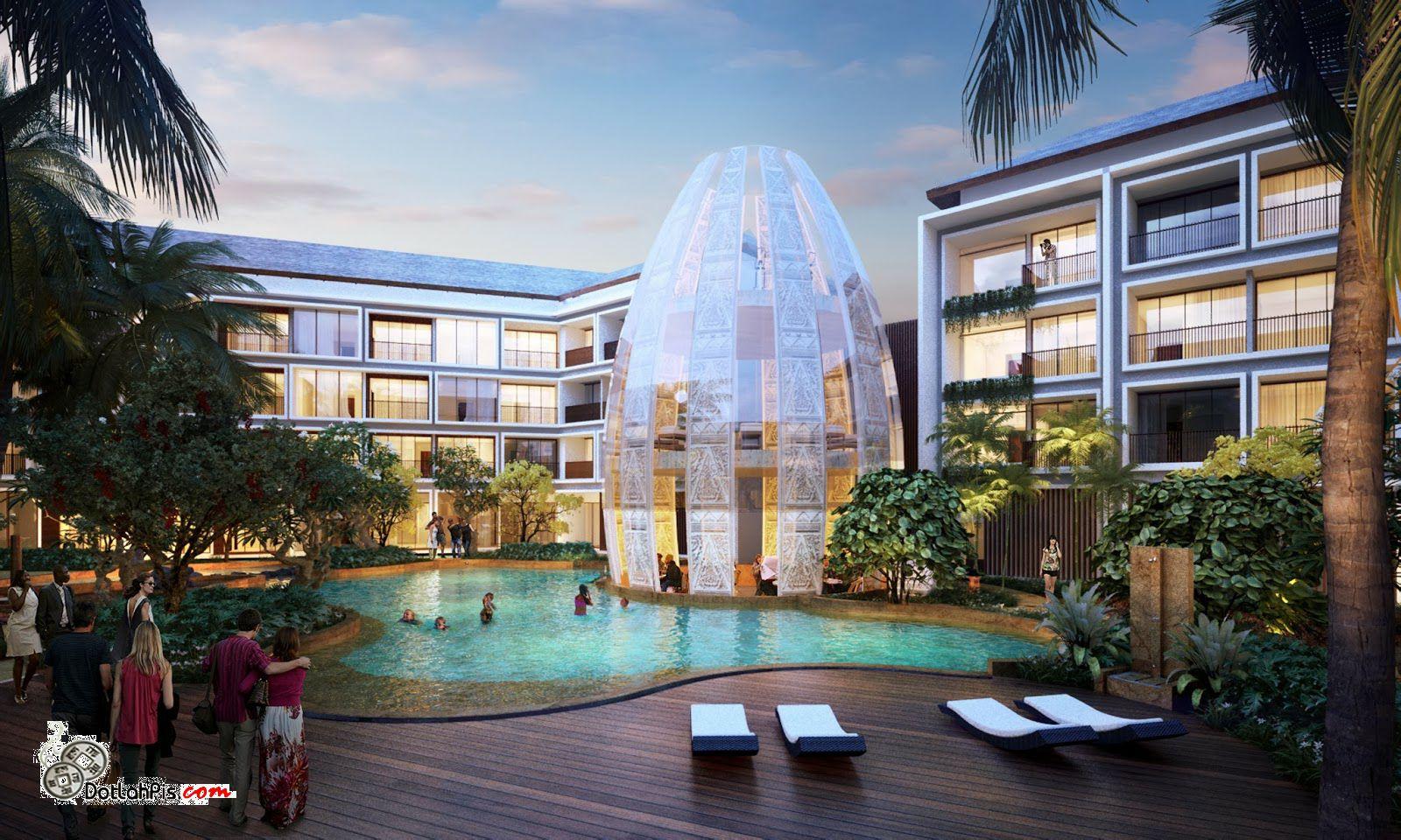 KOLAM RENANG Dijual Apartemen Di Sunset Road Kuta Bali Dekat Carrefour Dan MBG